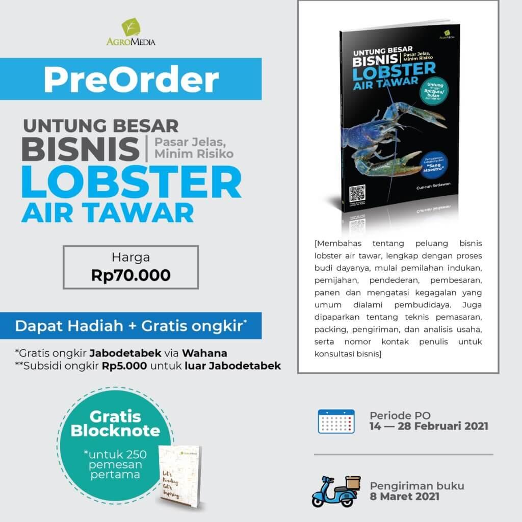 PO buku bisnis lobster air tawar